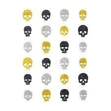 japanese nail art stickers halloween glitter skulls