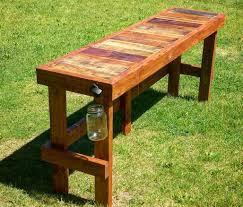 Patio Furniture Made Of Pallets - pallet wood top bar outdoor bar table pallet wood and tubs