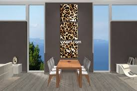Dining Room Wall Art Decor by 3 Piece Brown Wildlife Leopard Artwork