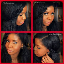 last minute hairstyle on straightened long natural hair natural