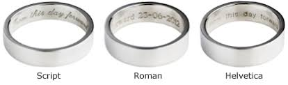 engravings for wedding bands engraving your wedding ring with a personal message