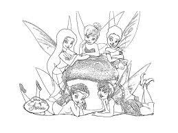 18 dessins de coloriage La Fée Clochette Et Ses Amies à imprimer