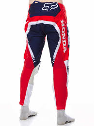 fox honda motocross gear racing pants revzilla red white mx jersey freestylextreme fox