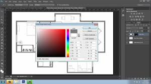 Color Floor Plan Adobe Photoshop Cs6 Rendering A Floor Plan Part 2 Walls And