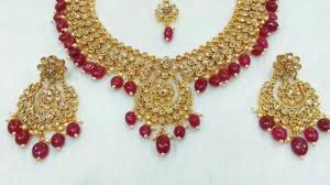 necklace sets wholesale images Indian bridal jewelry sets wedding jewelry partywear jewelry jpg