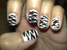 nails zebra beautify themselves with sweet nails