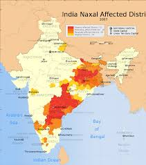 India Map Of States by Naxalite Wikipedia