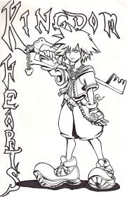 kingdom hearts coloring page free download