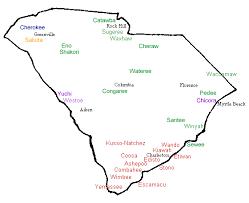 south carolina indian tribes map swimnova