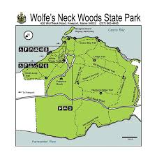 Maine State Map by First Day Hike At Wolfe U0027s Neck Woods State Park Experience