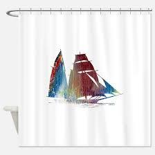 Sailboat Shower Curtains Sailboat Shower Curtains Cafepress