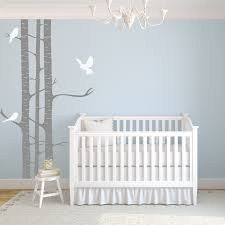 childrens birch tree wall stickers by wallboss wallboss wall childrens birch trees with birds wall stickers