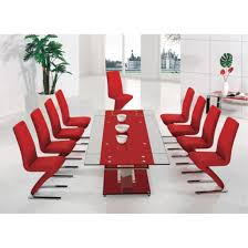 Red Dining Room Table by Dining Room Furniture Glass And Wood Dining Table Sparkling