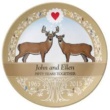 50th anniversary plate personalized 50th wedding anniversary plates zazzle