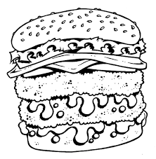 double cheeseburger and fries coloring page twisty noodle at