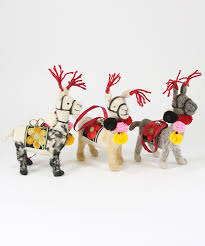 this llama ornament trio from foster is a unique