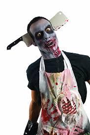 Zombie Halloween Costumes Girls Amazon Rubie U0027s Costume Zombie Shop Cleaver Head