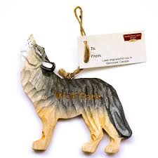 wooden wolf ornament wolf park s store