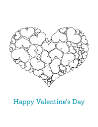 happy valentines coloring free printable coloring pages