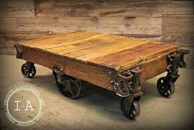 rustic coffee table with wheels industrial rustic coffee table with wheels dinogames co