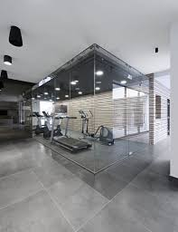 Home Lighting Design London by Architecture Modern Gym Area With Glass Walls And Drop Ceiling