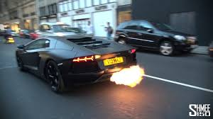 flames matte black lamborghini aventador