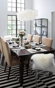 black and white dining room ideas dinner table black white pink gold erika brechtel
