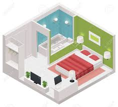 Icon Floor Plan by Isometric Hotel Room Icon Royalty Free Cliparts Vectors And