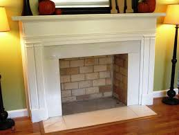 contemporary faux fireplace mantel