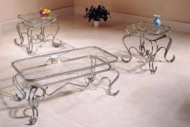 glass end table set glass top coffee table sets