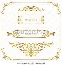 Decorative Frame Png Vector Decorative Frame Elegant Element Design Stock Vector