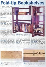 Woodworking Plans Rotating Bookshelf by Fold Up Bookshelf Plans U2022 Woodarchivist