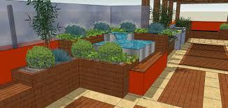 elaborate roof garden complex simple rooftop urban garden design