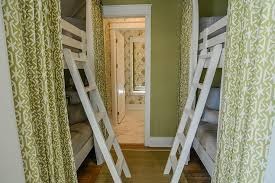 Green Bedroom Curtains Green Beach Bungalow Bunk Room With Green Bunk Bed Curtains