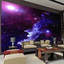 purple galaxy wallpaper mural photo giant wall decor paper poster