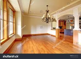 Empty Kitchen Large Luxury Dining Room Interior Kitchen Stock Photo 130602125