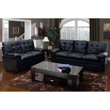 Tufted Faux Leather Sofa Black Tufted Faux Leather Sofa Free Shipping Today Overstock