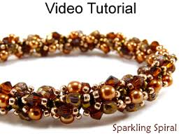 jewelry making necklace images Beaded crystal pearl double spiral stitch necklace bracelet jpg