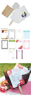 diy wedding program fans kits diy wedding program fans kit with design template program fans