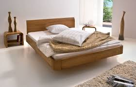 Oak Bed Frame Hasena Oakline Airon Lisio Solid Oak Floating Modern Bed
