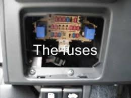 where are the fuses in my nissan versa youtube