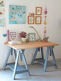 bureau bisous mar florido ateliê mesa com cavaletes adoro esta cor de