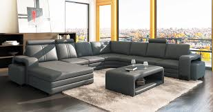 canape d angle 8 10 places deco in 1 canape d angle panoramique cuir gris 10 places