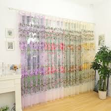 online shop fashion design modern transparent tulle curtains