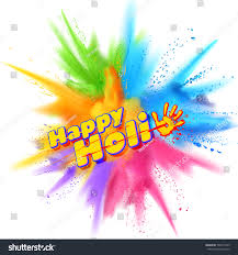 Color For Happy Illustration Colorful Gulal Powder Color Explosion Stock Vector