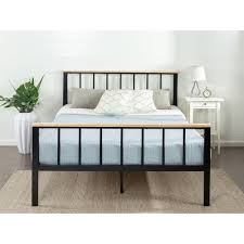 Iron And Wood Headboards Queen Bed Frame Bed Frames U0026 Box Springs Bedroom Furniture