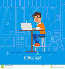 male freelancer working remotely from his desk vector