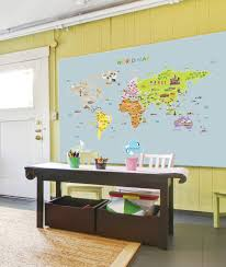 world map removable nursery wall art decor mural decal sticker zoom