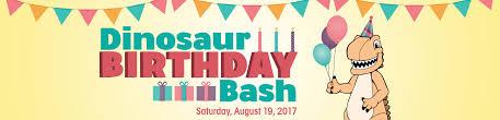 dinosaur birthday dinosaur birthday bash 2017 fernbank museum of history