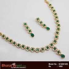 emerald stone necklace jewelry images Zircon emerald stone necklace set online jpg